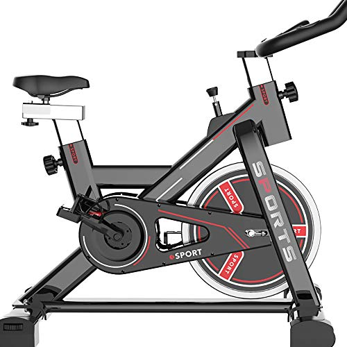 Bicicleta Estática De Ciclismo De Interior, Entrenamiento Cardiovascular Equipo De Entrenamiento Deportivo Manillar Ajustable Y Asiento AB Cardio Trainer Ideal para Hombres Mujeres,Rojo