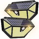 Luz Solar Exterior, OMERIL Focos LED Exterior Solares【286 LED / 2600 Lumens】con Sensor de Movimiento, Súper Brillante Impermeable 270º Illumination Exterior Solar para Exterior Jardín Camino (2Pack)