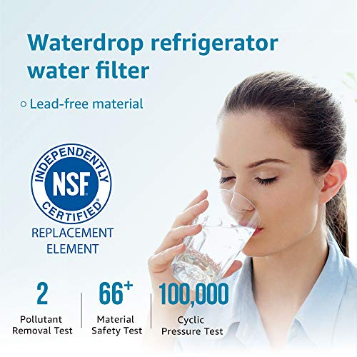 Samsung DA29-00020B Refrigerator Water Filter Replacement by Waterdrop, Compatible with Samsung DA29-00020B, DA29-00020B-1, Haf-Cin/Exp, 46-9101, RF4267HARS, RF28HFEDBSR, 3 Filters