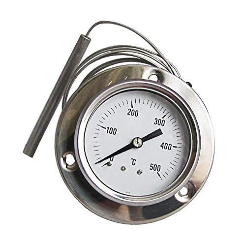ConPush Termómetro Pirómetro de Horno Barbacoa Grados 160 cm de Longitud Flexible Sonda Barbacoa (500° C)