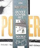 Primark Home Harry Potter - Juego de Funda de edredón Reversible para Cama Individual, Doble, tamaño King Size, Blanco y Negro, Suelto