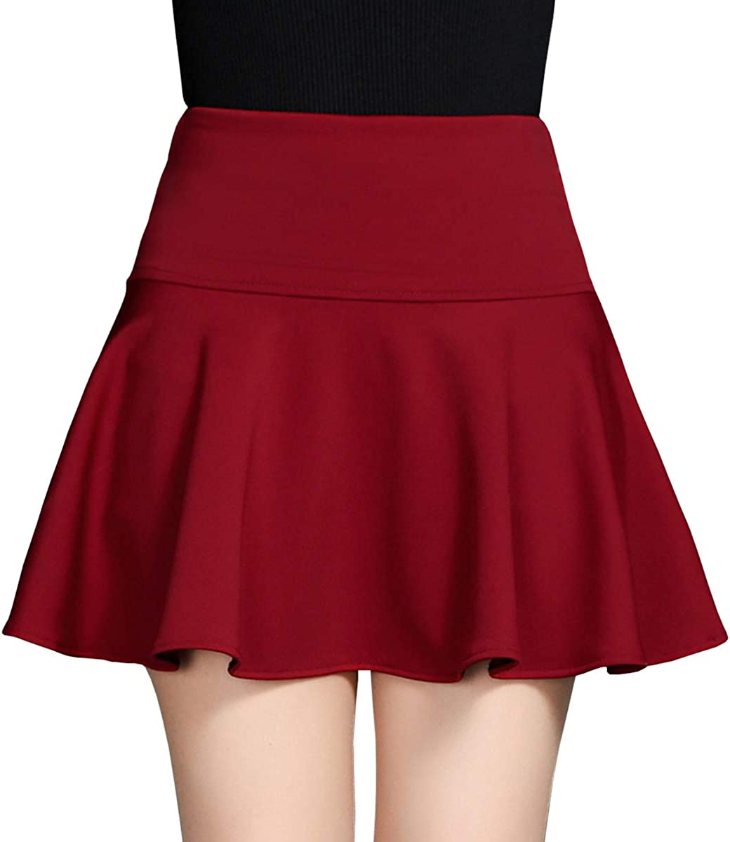 DISSA BD1204 Women Pleated Mini A-Line Skirt
