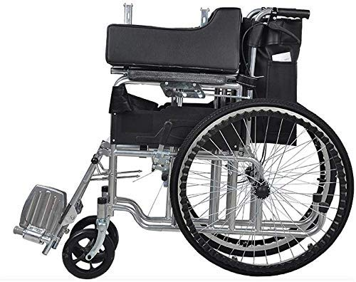 YASE-king Wheelchair Lightweight and Foldable Frame Wheelchair,Attendant-Propelled Wheelchair, Portable Transit Travel Chair, Removable Footrests