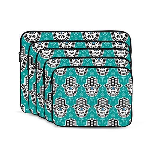 KUUDJIT Hamsa Hand 12/13/15/17 Inch Laptop Sleeve Bag for MacBook Air 13 15 MacBook Pro Portable Zipper Laptop Bag Tablet Bag,Diving Fabric,Waterproof