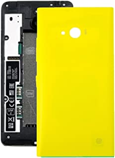 Practical Convenient Spare Parts Compatible with Nokia Lumia 735 Battery Back Cover Replacement Parts (Color : Yellow)