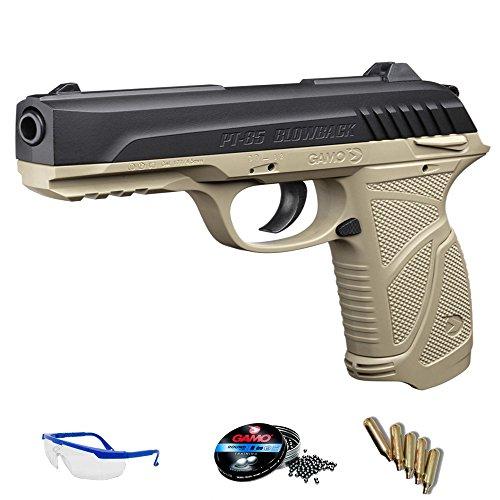 PT 85 desert Pack Pistola de Aire comprimido Arma de CO2 y balines BBS (perdigones de Plomo) 138 m/s <3,5J