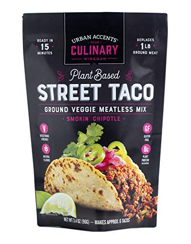 Urban Accents Plant Based Chipotle Taco Meatless Mix – Gluten Free Plant Based Protein & Mexican Spice Blend, 3-pack