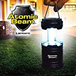 Atomic Beam Lantern Original by Bulbhead, Bright 360-Degree, Collapsible LED Lantern for Emergencies & Camping 6 ➤ The camping lantern that shines 360-degrees of bright LED light ➤ Hang your atomic lantern from handles, magnetic base, or hook for hands-free torch light ➤ Collapsible light has easy pull-n-push on/off system so you're not fumbling for buttons when you need an emergency light