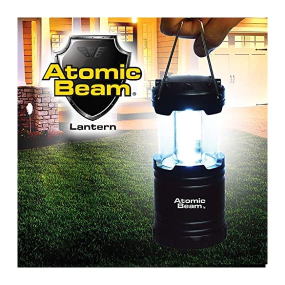 Atomic Beam Lantern Original by Bulbhead, Bright 360-Degree, Collapsible LED Lantern for Emergencies & Camping 1 ➤ The camping lantern that shines 360-degrees of bright LED light ➤ Hang your atomic lantern from handles, magnetic base, or hook for hands-free torch light ➤ Collapsible light has easy pull-n-push on/off system so you're not fumbling for buttons when you need an emergency light