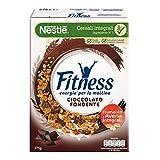 FITNESS Cioccolato Fondente Cereali con Frumento e Avena Integrali e Fiocchi Ricoperti al Cioccolato Fondente, 4 Confezioni da 375 g