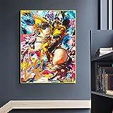 HUANGXLL Decoración nórdica para el hogar Francia Napoleón Caballo Retrato impresión Pintura al óleo Lienzo póster Arte de Pared para decoración de Sala de estar-50x70cm-sin Marco
