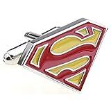 Super Hero Superman Gelb und Rote Manschettenknöpfe