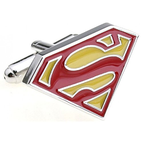 Boutons de Manchette Superman Jaune et Rouge