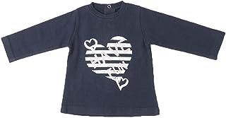 BABY-BOL - Camiseta Niña Corazón Rayas bebé-niños