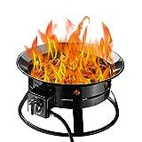 Klismos Outdoor Fire Pit Gas Propane 52000BTU Enamel Fire Bowl for Camping,Party,Backyard,Patio