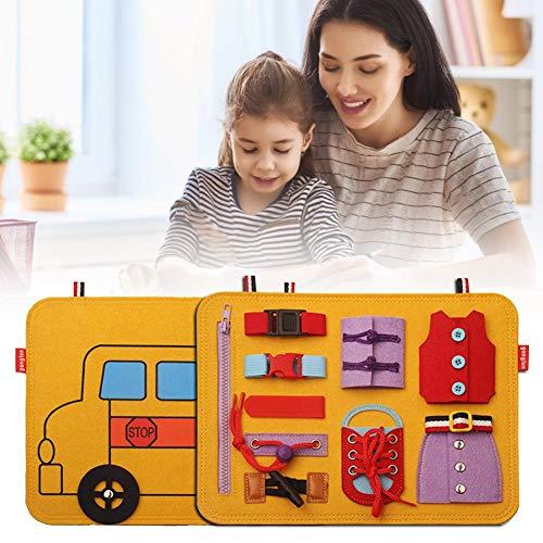 Juguetes educativos Consejo de Administración para niños, juguetes de aprendizaje, consejo de actividad, competencia base de aprendizaje temprano, sabiendo más sobre el cierre de deslizamiento
