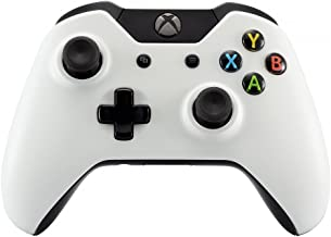 eXtremeRate Matte Solid White Front Top Up Shell Case Faceplate for Xbox One Controller