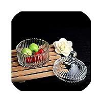 北欧ヴィンテージクリスタル貯蔵タンククリエイティブクリアガラスキャンディーティーストレージジャー実用的なスナック新鮮な缶キッチン装飾、1