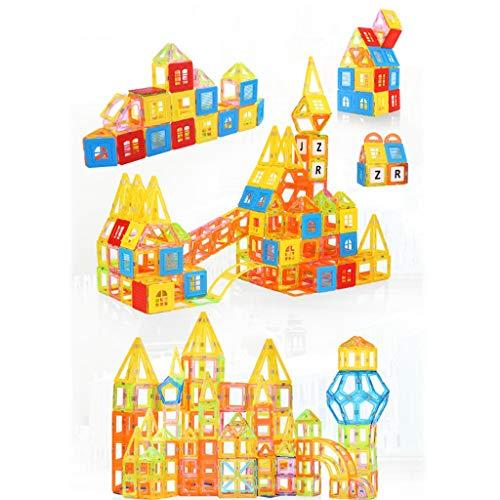 Blocs de construction magnétiques, jouets éducatifs pour enfants 3-6-8 ans garçons et filles aimants intellectuels assemblés blocs de construction jouets, pièces magnétiques en cristal blocs de cons