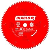 Freud D1280X Diablo 12-Inch 80 Tooth ATB Crosscutting Saw Blade with 1-Inch...