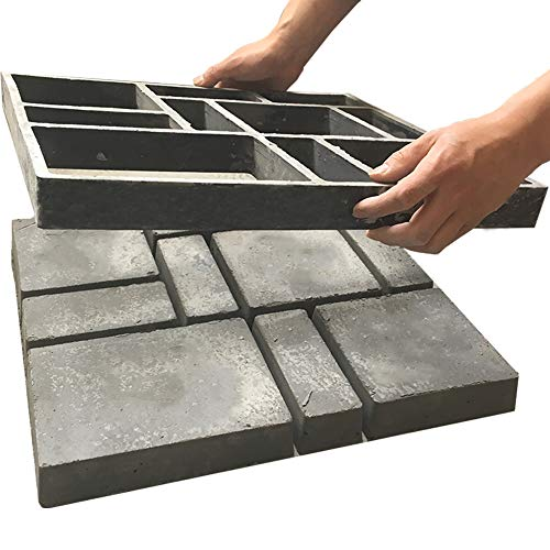 Awaken Pathmaker Concrete Mold 17.7'x15.7', Large Concrete Molds and Forms, Cement Molds for Walkways, Stepping Stone Molds, Walk Maker Garden Path Mold, Heavy Duty Plastic, Durable, Resusable