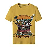 SSBZYES Camiseta De Verano para Hombre Camiseta De Gran Tamaño para Hombre Camiseta De Cuello Redondo para Hombre Camiseta De Manga Corta Camiseta De Moda con Estampado Superior Informal