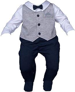 Six4kids Baby Taufstrampler Taufanzug Strampler Overall
