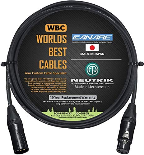 6 Foot Quad Balanced Microphone Cable Custom Made by WORLDS BEST CABLES Using Canare L 4E6S product image