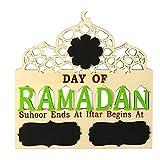 Athemeet Suministros Ramadán Eid Mubarak el Ramadán Mubarak Madera Decoraciones caseras Decoraciones de Eid Mubarak Eid Mubarak decoración de Adviento Calendario de Cuenta atrás Party Decor Junta