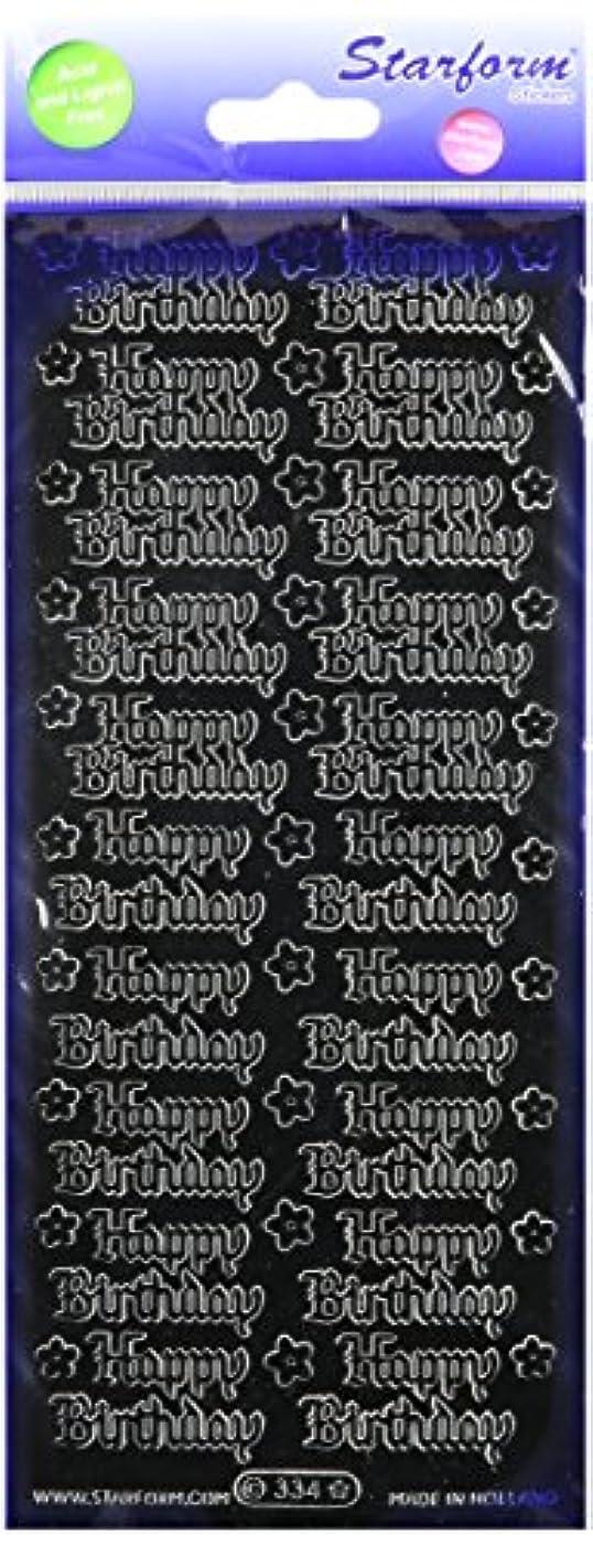 Starform Deco Sticker Happy Birthday, Black