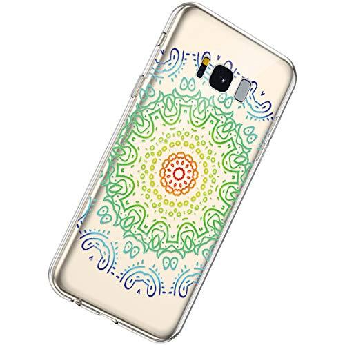 Herbests Compatible Samsung Galaxy S8 Funda Transparente
