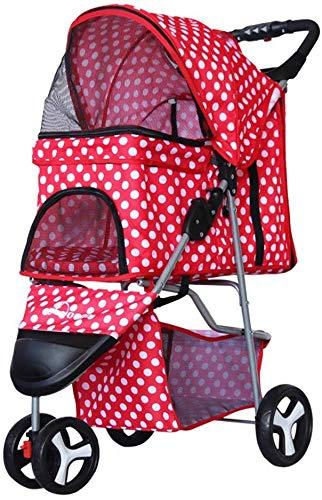 Cochecito para mascotas de moda para mascotas o personas con discapacidad, para viajes con mascotas, 3 ruedas y carga dentro de 30 kg, un Detazhi