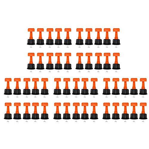 KEKOL 50 Uds, Sistema de nivelación de Azulejos, ajustador de nivelador de Azulejos Reutilizable, espaciadores Planos, Herramientas de construcción para Paredes de construcción, Pisos de cerámica
