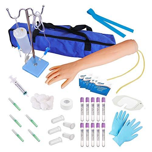 Phlebotomie-Kit   IV, Venenpunktion, Phlebotomie-Arm-Praxis-Kit   Perfekte Phlebotomie-Geschenke für Medizin- und Pflegestudenten   Gesamtes Phlebotomie-Kit und Zubehör   (NUR FÜR AUSBILDUNGSZWECKE)