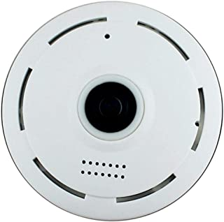 Wifi P2P Camera 360 Degree CCTV with Mic Speaker and Night Vision - White
