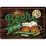 Nostalgic-Art, Biglietto di auguri retrò con scritta 'Beer O' Clock Glasses' – idea regalo per...