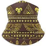 C-WANG Tribal Ethnic mit ägyptischen Symbolen Stirnband Gesichtsmaske Kopftuch Kopfwickelschal Nackenwärmer Kopfbedeckung Sturmhaube