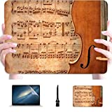 MacBook Computer Case Cello On Ancient Music Sheet Rusted Old Yellow Pa Plastic Hard Shell Compatible Mac Air 13' Pro 13'/16' MacBook Pro 2017 Case Protective Cover for MacBook 2016-2020 Version
