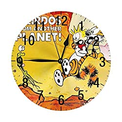 12 Silent Decorative 10 Wall Clock - Quartz Sweep - Easy to Read - Round Frame - Battery Operated - White Face - 10 Inch