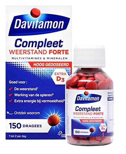 Davitamon Compleet Weerstand Forte - Multivitaminen en mineralen - speciaal ontwikkeld voor volwassenen en bevat een extra hoge dosering van belangrijke vitamines en mineralen - 150 stuks