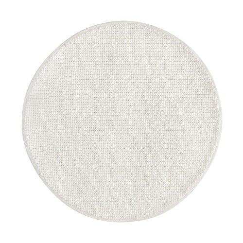 Ikea BADAREN Badematte Mikrofaser rund luxuriös weich 5 Farben (weiß)