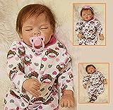ZIYIUI 55cm 22 Pulgadas Bebe Reborn niña Reborn Baby Toddler muñeca Encantadora Chica Realista muñecas Vinilo de Silicona Suave al Tacto