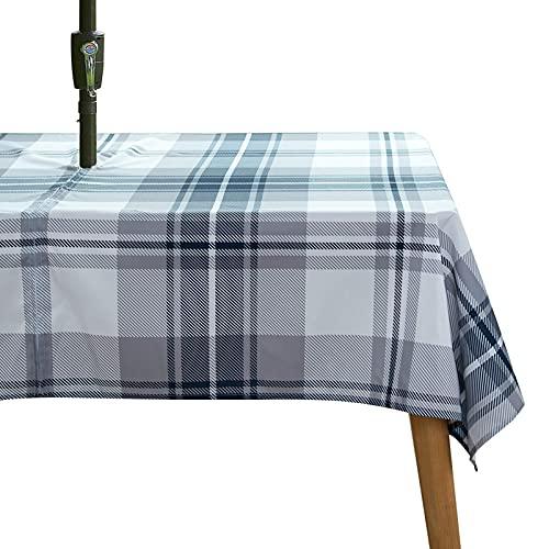 WLALLSS Floral Tischdecke wasserdichte Reißverschluss-Tischdecke mit Regenschirmloch,Tischdecken Rechteck Anti-Falten-Tischdecke für Home Restaurant und Strand
