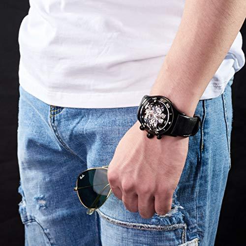 REEF TIGER Homme Analogique Automatique Montres avec Bracelet en Cuir RGA703-BBB