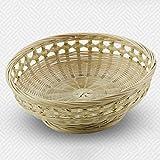 Storage Basket yxx in bambù rattan cesto di frutta verdura–Ripiano per lavoro desktop telecomando Snacks Cellulare Cestini di libri ragnatele, 16* 27cm