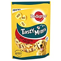 Pedigree Tasty Minis are delicious little dog chew treats in a range of tasty flavours and textures, made for training, rewarding or treating your pet Pedigree Tasty Mini slices are designed for adult dogs and are especially suitable for small breeds...