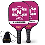 Pickleball Set, Pickleball Paddles, Pickleball Paddle Set of 2, M-Pick Pickleball Racquet with Tennis Racket Covers as Pickleball Gifts for Women Men Beach Ball Game Outdoor