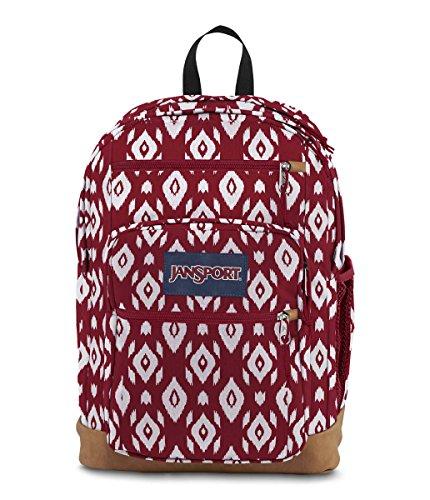JanSport JS0A2SDD Cool Student Backpack, Viking Red Ikat Diamonds - One Size
