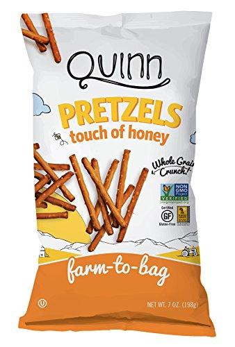 Quinn Touch of Honey Pretzel Sticks, Gluten Free Pretzels, Corn Free, Soy Free, Non-GMO, 7 Oz, Pack Of 3
