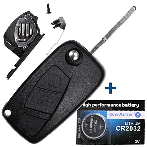 mächtig Faltbarer Autoschlüssel mit Funksteuerung 1 × 3-Tastengehäuse + 1xHU100-Abdeckung + 1xCR2032…